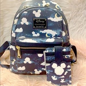 Loungefly Disney Dream Cloud Mickey Backpack set